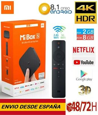 ORIGINAL. Xiaomi Mi Box S TV Box 4K Ultra HD 2GB 8GB Android 8.1 Quad Core Negro