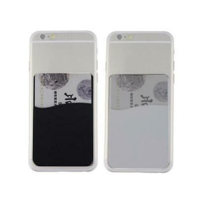 Silicone Wallet Credit Card Cash Case Adhesive Sticker Holder For Cellphone AC
