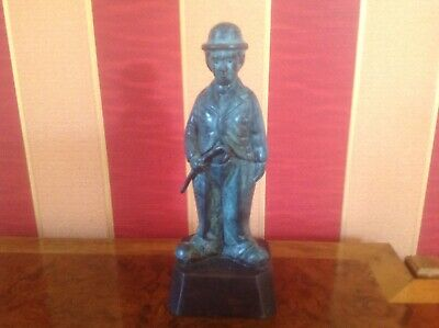 Unusual Vintage Charlie Chaplin hollow metal bronze? cast figure statue