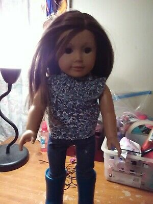 """american girl 18"""" truly me doll brown hair/brown eyes with clothes and accessori"""