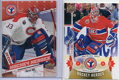Patrick Roy Montreal Canadiens 2 Cards - Ud National Hockey Card Day - Canada