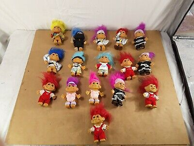 Lot of 26 Vintage RUSS Trolls. Clothes Accessories Costumes See Pictures