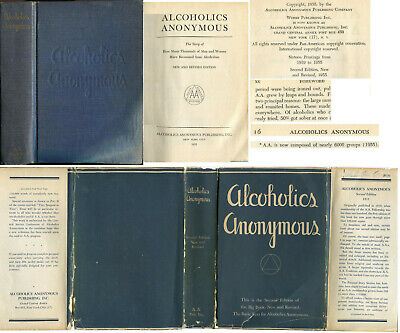 Alcoholics Anonymous 2nd Edition 1st Printing 1955 Original DJ AA Big Book