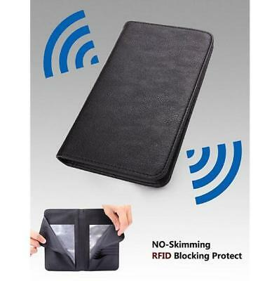 Travel Wallet RFID Blocking Anti Scan Long Passport Holder PU Leather GIFT OZ