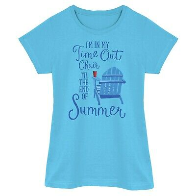 Relevant Products Women's Time Out Chair Sleep Shirt - Funny Blue Pajama Top