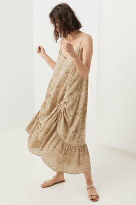 Spell And The Gypsy Lioness Ruched Strappy Dress M Bnwt