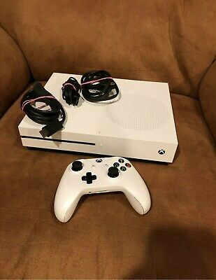 Microsoft Xbox One S 1TB Console - White - Controller And Cables Included! Mint
