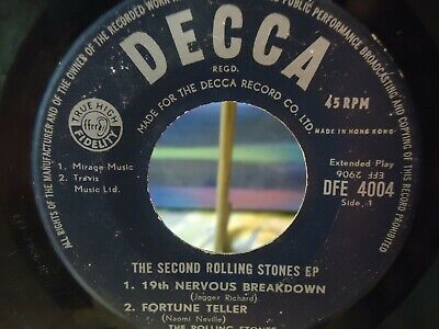 """The Rolling Stones - The Second Rolling Stones EP - Hong Kong - 7"""" 45 RPM Vinyl"""