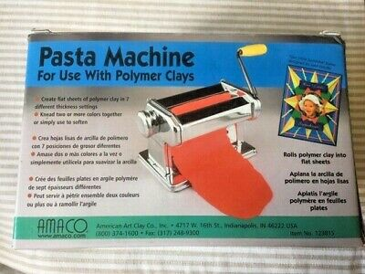 Amaco Pasta Machine Roller for Polymer Clays complete EXC
