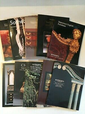Lot of 10 (9) Sotherby's + (1) Christie's Auction Catalogs