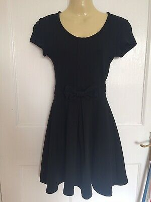 a73c9b2e Zara Sellout Black Bow Dress Size Xs Fit & Flare Skater