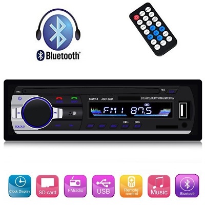 Single Din Car Stereo Reveiver with Bluetooth Car Audio FM Radio MP3 Player with