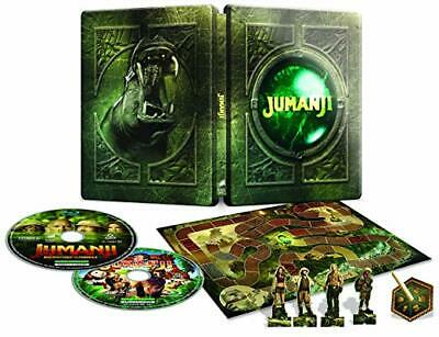 Jumanji 1 + 2 SteelBook [Blu-ray: Region Free, Embossed, incl. BOARD GAME] New!