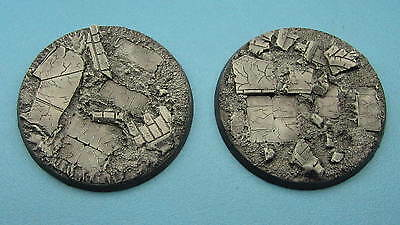 2 X Unpainted 60mm resin bases rubble Dreadnought Warhammer 40k Dark Imperium