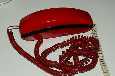 Unisonic Model 6472 Bright Red Princess Style Push Button Telephone Vintage