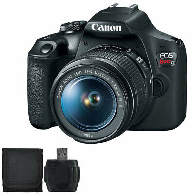 Canon EOS Rebel T7 24.1MP DSLR Camera with EF-S 18-55mm f3.5-5.6 IS II Lens