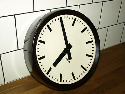 12 1/2inch industrial wall clock - Pragotron - Factory School Railway vintage