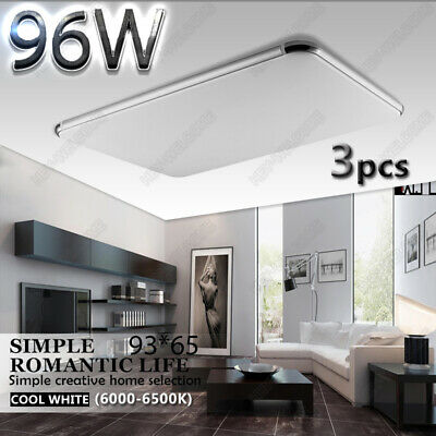 3X 96W 93*65*9cm Slim LED Ceiling Light Living Room Bedroom Hotel/Workplace