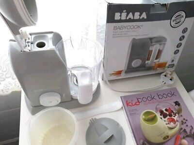 BEABA Babycook 4 in 1 Steam Cooker & Blender and Dishwasher Safe, 4.5 Cups, Clou