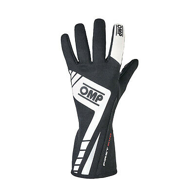 OMP FIRST EVO MY16 Racing Gloves Black (homologation FIA) s. XL