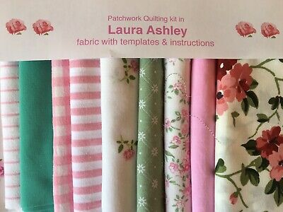 LAURA ASHLEY FABRIC 'PRIORY' PATCHWORK QUILTING KIT+INSTRUCTIONS -CHOICE of SIZE