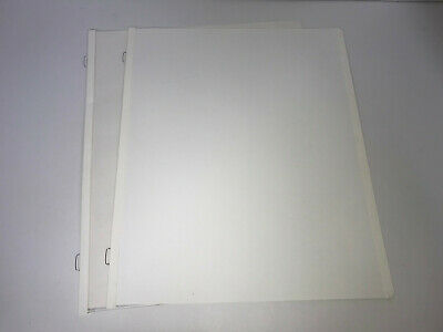 2 Loose Creative Memories 8.5x11 White Pages Scrapbook Refill Top Load & Pocket
