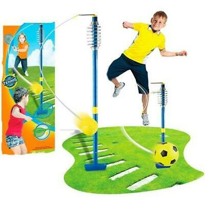 2 In 1 Swingball Tennis Football Kids Fun Garden Game Toy All Surface Outdoor