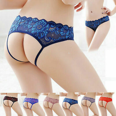 ☆USA☆ Sexy Women Lace Thong G-string Panties Lingerie Underwear Crotchles T-back