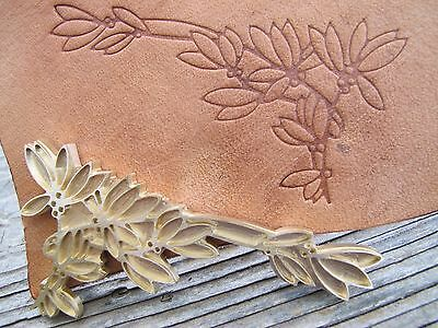 BERRIES & LEAVES Leather Bookbinding letterpress Stamp embossing die ST7