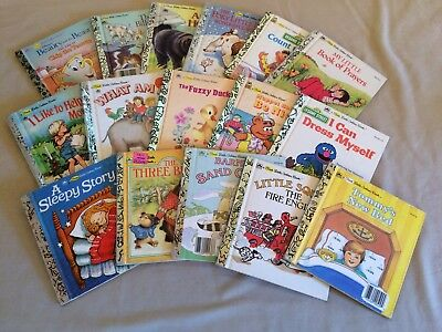 A First Little Golden Book LOT of 16 Vintage Books