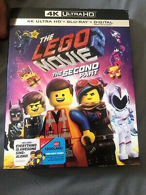 The Lego Movie the second part 4K ultra HD and bluray only opened for code