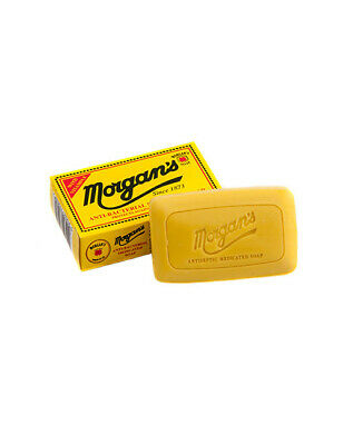 Morgans Anti-Bacterial Medicated Daily Deep Cleanses Face Soap 80g Retro Box