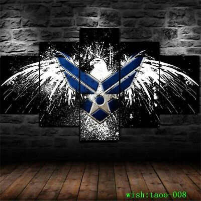 States U.S Air Force ARMY Logo 5PC Canvas HD Prints Painting Wall Art Home Decor
