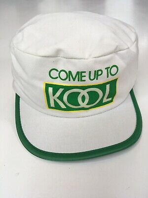 Vtg Kool White Hat Cigarettes Come up to Kool Louisville MFG snapback Painters
