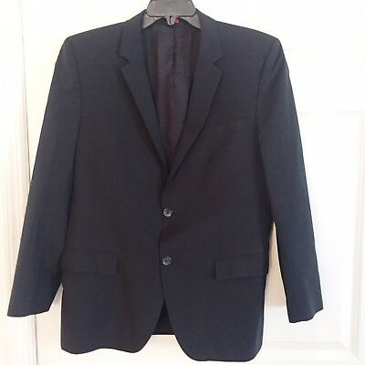 c91c2b5ef Hugo By Hugo Boss Mens Aamon Hago Blazer Jacket 40 R Black Virgin Wool