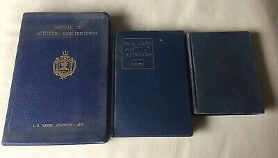 Antique Naval Academy Navy Books - Lot of 3