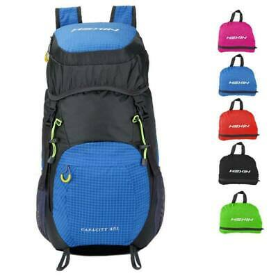 e93054e537cc PORTABLE FOLDABLE TRAVEL Backpack Daypack Bag Pouch Sports Camping ...