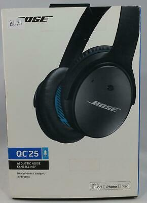 Bose Quiet Comfort QC25 Acoustic Noise Cancelling Headphones BLACK BL21