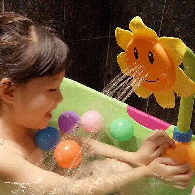 Baby Bath Tub Bath Tap Spout Sunflower Faucet Play Toy Funny Bath Time Reliable