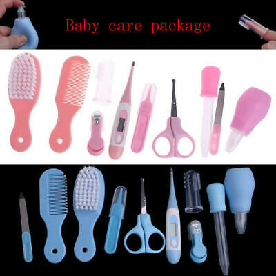 10pcs/set Baby Newborn Health Care Set Nail Hair Brush Thermometer Kid Groom sdf