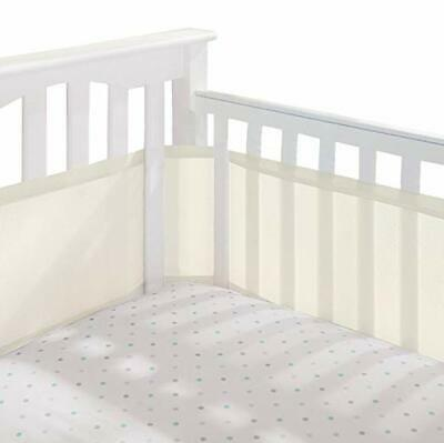 Breathable Baby Bed Liner Without Any Padding, Lightweight Mesh Crib Bumper