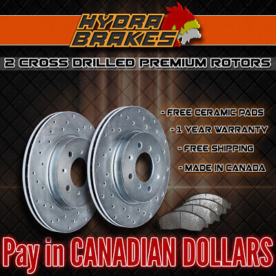 FITS 2007 2008 2009 2010 2011 TOYOTA CAMRY Drilled  Brake Rotors CERAMIC SLV F