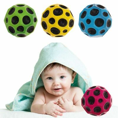 Moon Surface Ball Extreme Bounce Fast Spin Lightweight Throw Catch Toy Stylish~