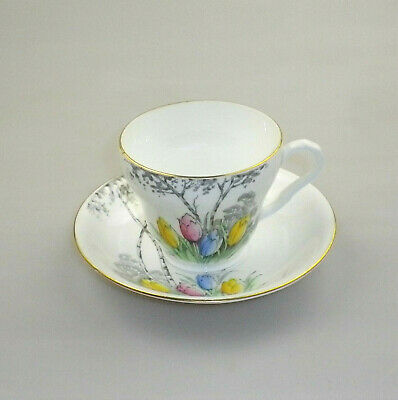Vintage Melba & Co China Cup and Saucer Tulips