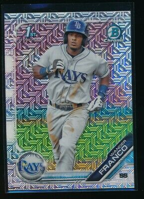 WANDER FRANCO 2019 1st Bowman Chrome Mega Box MOJO REFRACTOR Rays Rookie RC QTY