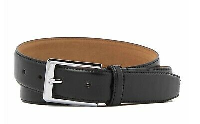 COLE HAAN MEN'S BELT LEATHER FEATHERED EDGE  BELT IN COGNAC NEW W//TAGS