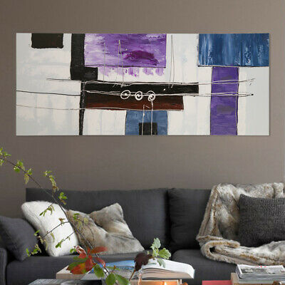 150x60cm Modern Abstract Canvas Hand Painted Oil Painting Framed Wall Art Decor