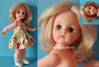 """Vintage Doll Girl 15"""" Summer Sand Dressed Mary Jane Shoes 1960s Reliable Canada"""