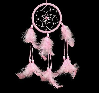 Pink Dream Catcher Net Hanging Home Car Decoration Decor Handmade Crafts Gift