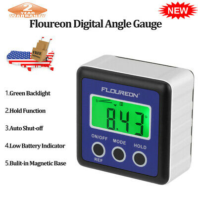 Digital LCD Protractor Gauge Angle Finder Bevel Level Box Inclinometer Meter US
